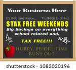 back to school tax free weekend ... | Shutterstock .eps vector #1082020196