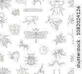 vector seamless pattern of...   Shutterstock .eps vector #1082024126