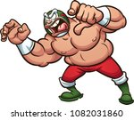 angry fat cartoon mexican... | Shutterstock .eps vector #1082031860