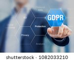 gdpr general data protection... | Shutterstock . vector #1082033210