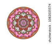 mandala. round ornament floral... | Shutterstock .eps vector #1082035574