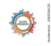 target becomes silver members.... | Shutterstock .eps vector #1082036120
