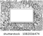 empty rectangle frames with... | Shutterstock .eps vector #1082036474