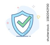 vector shield with check mark... | Shutterstock .eps vector #1082042930