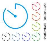 countdown. timer. multicolored... | Shutterstock .eps vector #1082043620