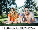 happy family rest together in... | Shutterstock . vector #1082046296