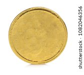Coin Gold Isolated On White...