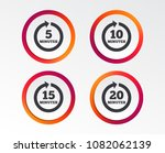 every 5  10  15 and 20 minutes... | Shutterstock .eps vector #1082062139
