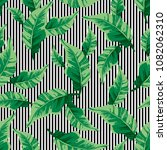 tropical seamless pattern with... | Shutterstock .eps vector #1082062310