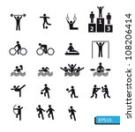 icons sports vector | Shutterstock .eps vector #108206414