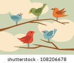Stock vector vector bird set 108206678