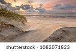 sunset view on north sea and... | Shutterstock . vector #1082071823