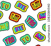 """seamless pattern with patches  """"...   Shutterstock .eps vector #1082084540"""