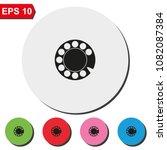 retro disk dialer flat round... | Shutterstock .eps vector #1082087384