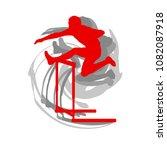 hurdling man race vector... | Shutterstock .eps vector #1082087918