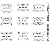 set of vector vintage frames... | Shutterstock .eps vector #1082089880