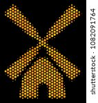 halftone hexagonal wind mill... | Shutterstock .eps vector #1082091764