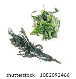 heap of dry wakame seaweed... | Shutterstock . vector #1082092466