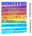 california typography graphics. ... | Shutterstock .eps vector #1082093756