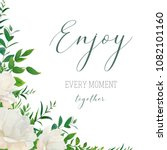 vector watercolor style floral... | Shutterstock .eps vector #1082101160