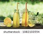 lemonade from elder flower... | Shutterstock . vector #1082103554