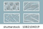 set template for cutting. palm... | Shutterstock .eps vector #1082104019
