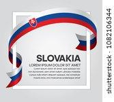 slovakia flag background | Shutterstock .eps vector #1082106344