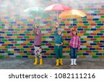 Happy Children In Colorful Hats ...