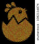 halftone hexagon hatch chick... | Shutterstock .eps vector #1082116874