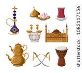 turkish traditional heritage...   Shutterstock .eps vector #1082117156