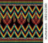 zigzag embroidery tribal vector ...   Shutterstock .eps vector #1082122280