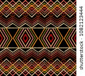 embroidery geometric vector... | Shutterstock .eps vector #1082123444