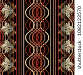 striped embroidery geometric... | Shutterstock .eps vector #1082123570