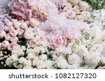 beautiful flower bed of fresh... | Shutterstock . vector #1082127320