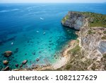 aerial view of coast with clear ... | Shutterstock . vector #1082127629