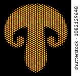 halftone hexagon champignon... | Shutterstock .eps vector #1082129648
