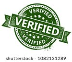 verified rubber stamp | Shutterstock .eps vector #1082131289