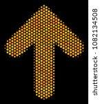 halftone hexagon arrow... | Shutterstock .eps vector #1082134508