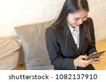 have some good news from tablet....   Shutterstock . vector #1082137910