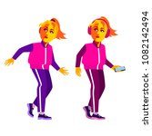 girls in sportswear. cartoon... | Shutterstock .eps vector #1082142494