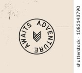 """adventure awaits"" vector badge 
