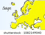 map of europe  halftone... | Shutterstock .eps vector #1082149040