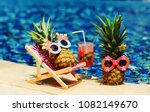 couple of attractive pineapples ... | Shutterstock . vector #1082149670