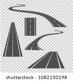 winding curved road direction... | Shutterstock .eps vector #1082150198