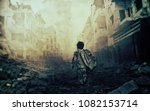 war homeless child | Shutterstock . vector #1082153714