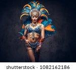 studio portrait of a sexy... | Shutterstock . vector #1082162186