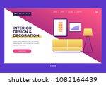 design template for landing... | Shutterstock .eps vector #1082164439