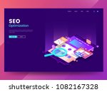 seo optimization web page... | Shutterstock .eps vector #1082167328