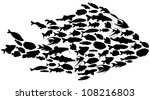 Fish Silhouettes Isolated On...