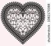heart with lace pattern. ornate ... | Shutterstock . vector #1082170388